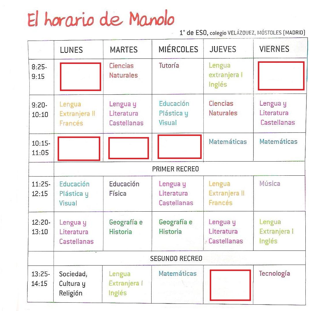 evaluation espagnol 5eme