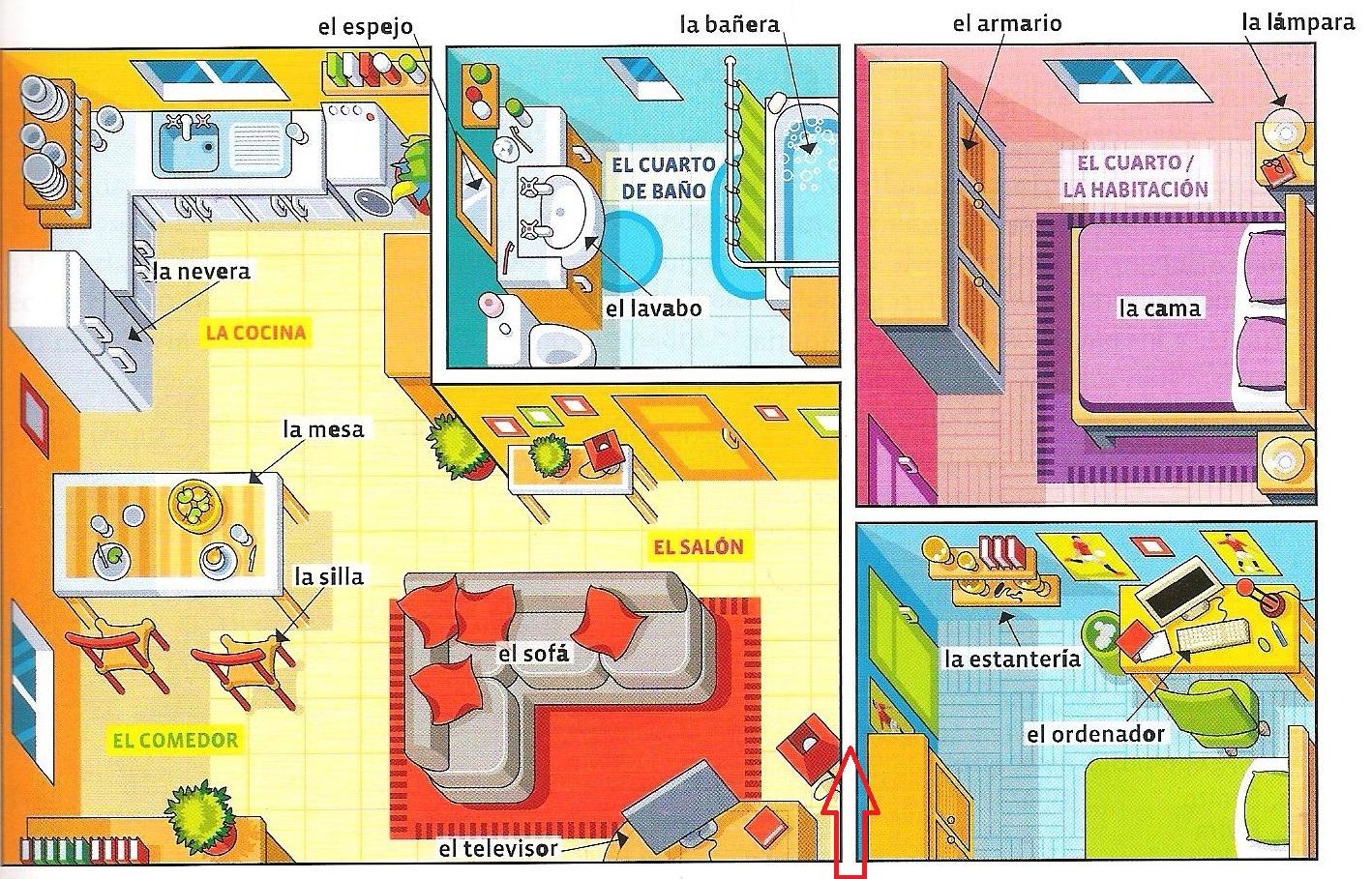 Plano de casa en la sombra de la profesora de espa ol - Plano de la casa ...