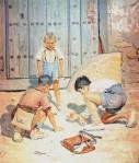 Niños jugando a las bolas_Antonio López Torres 1946
