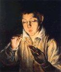 Niño encendiendo una vela-El Greco 1570